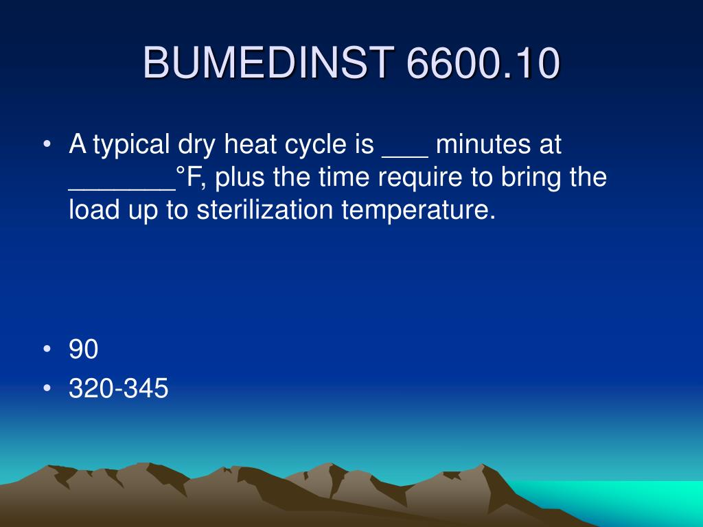 A typical dry heat cycle is ___ minutes at _______°F, plus the time require to bring the load up to sterilization temperature.