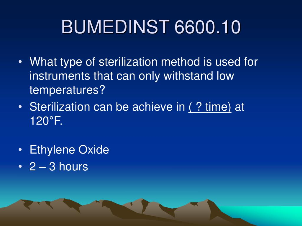 What type of sterilization method is used for instruments that can only withstand low temperatures?