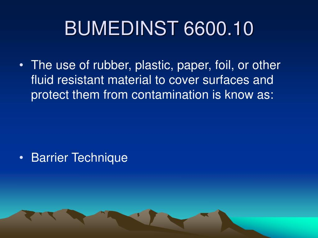 The use of rubber, plastic, paper, foil, or other fluid resistant material to cover surfaces and protect them from contamination is know as: