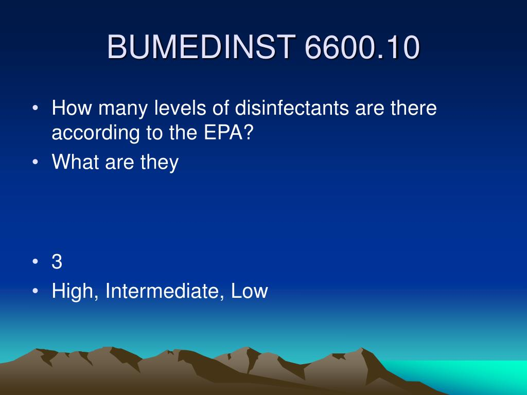 How many levels of disinfectants are there according to the EPA?