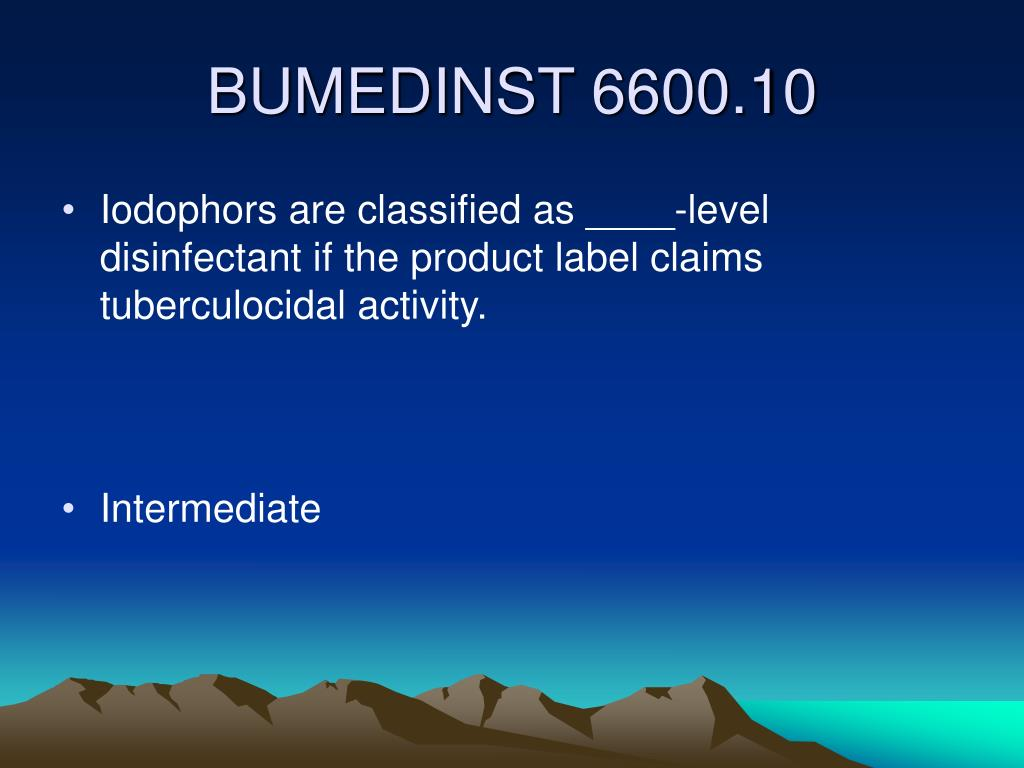Iodophors are classified as ____-level disinfectant if the product label claims tuberculocidal activity.