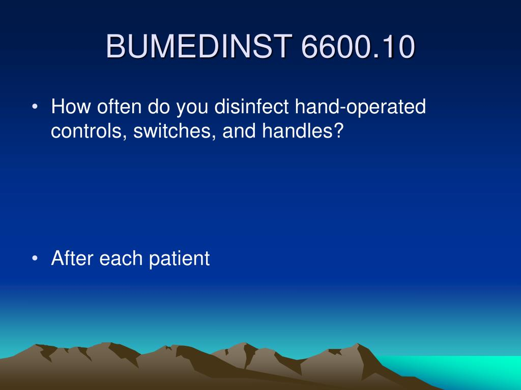 How often do you disinfect hand-operated controls, switches, and handles?