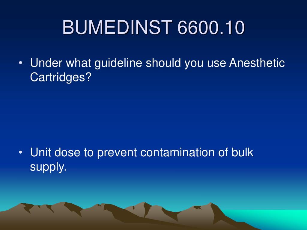 Under what guideline should you use Anesthetic Cartridges?