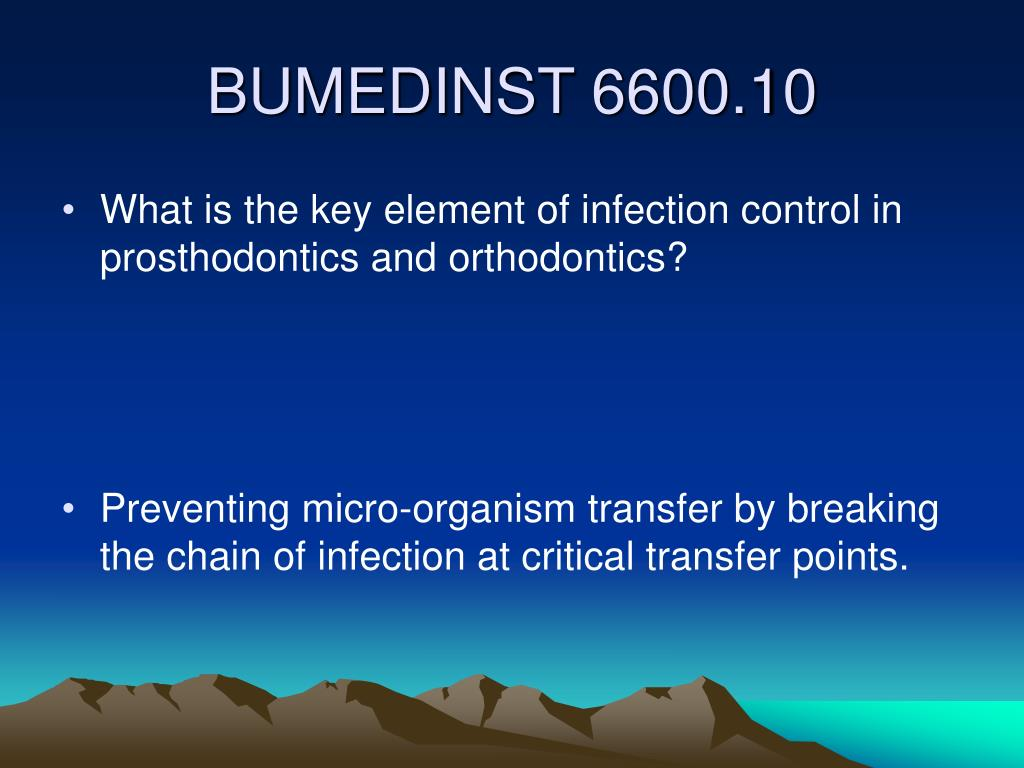 What is the key element of infection control in prosthodontics and orthodontics?