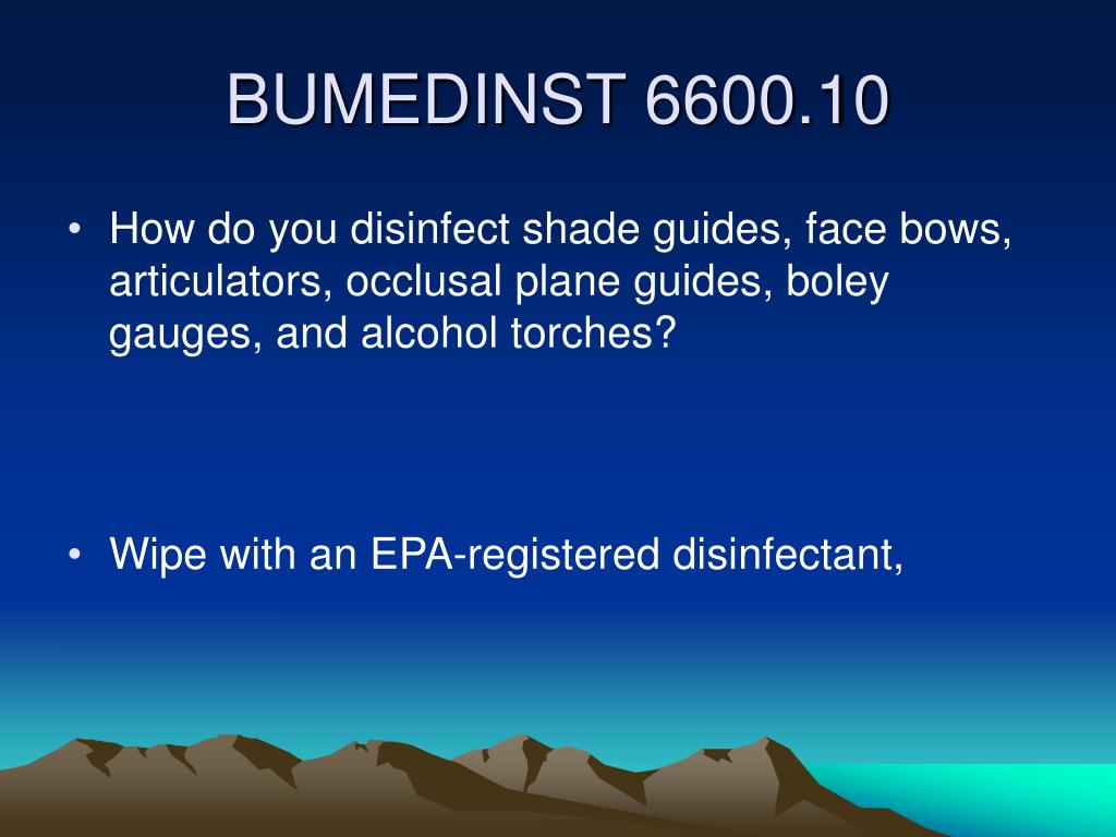 How do you disinfect shade guides, face bows, articulators, occlusal plane guides, boley gauges, and alcohol torches?