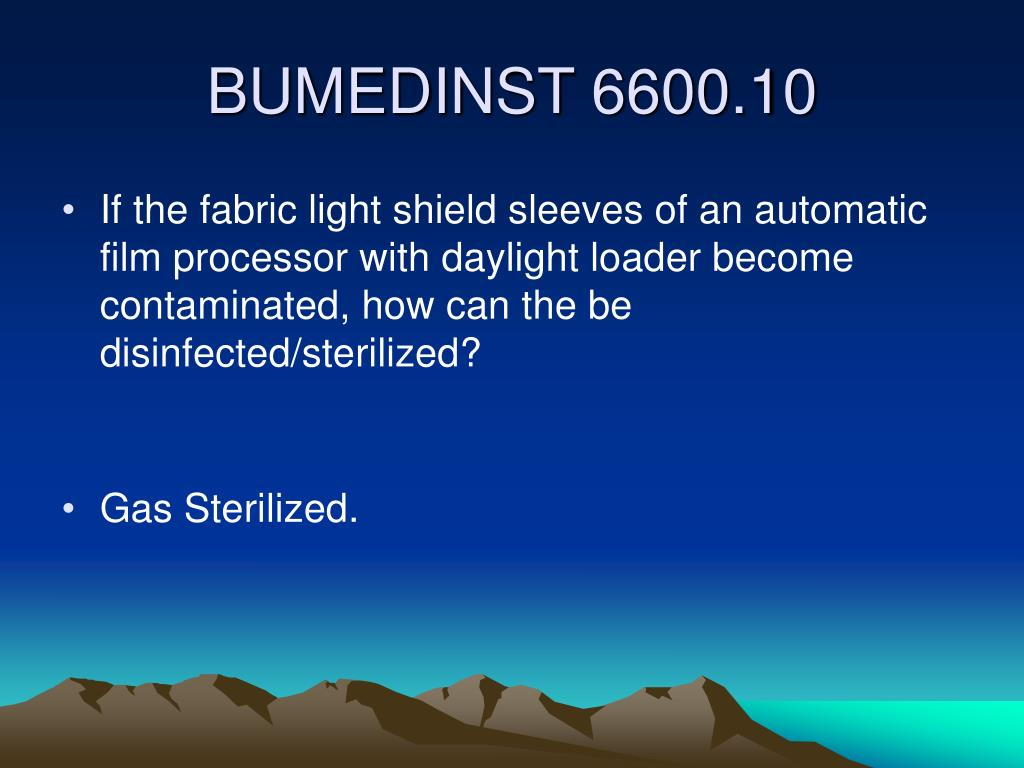 If the fabric light shield sleeves of an automatic film processor with daylight loader become contaminated, how can the be disinfected/sterilized?