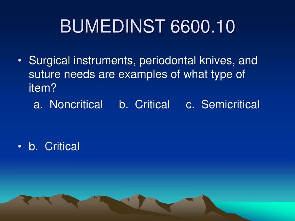 Surgical instruments, periodontal knives, and suture needs are examples of what type of item?