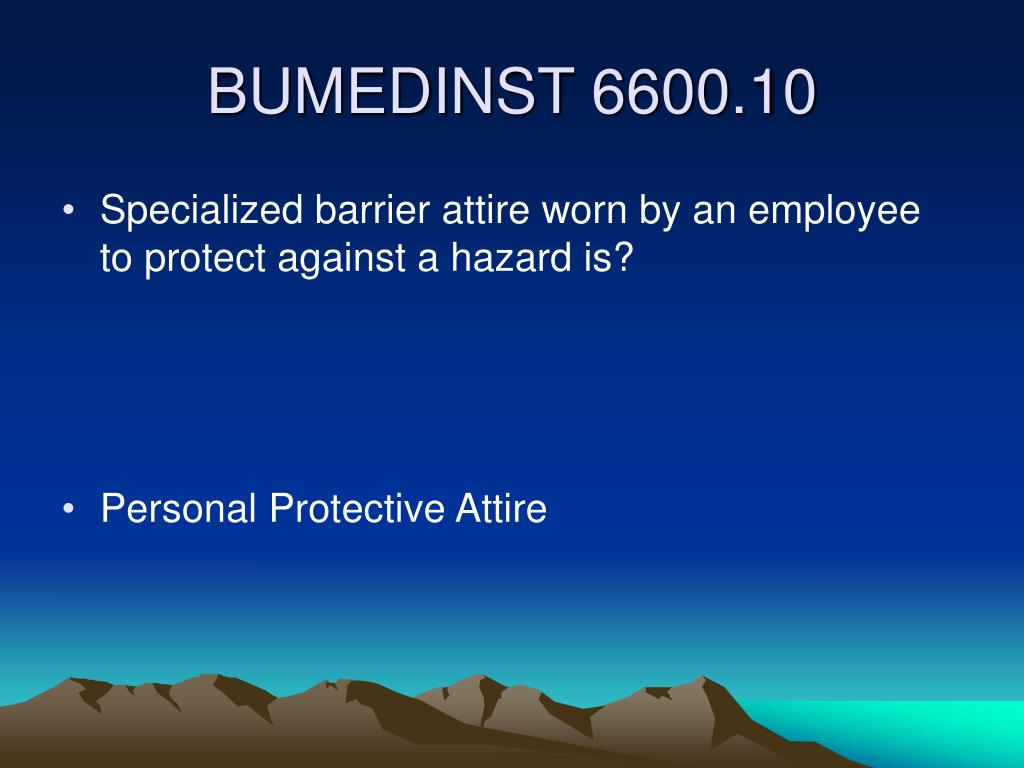 Specialized barrier attire worn by an employee to protect against a hazard is?