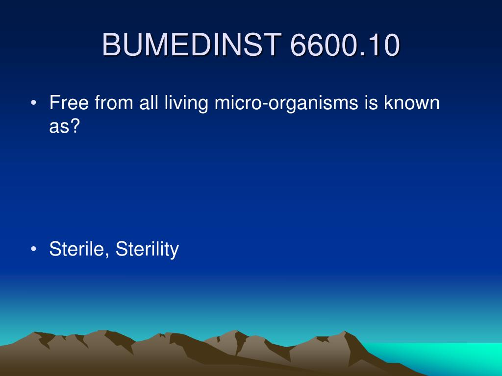 Free from all living micro-organisms is known as?