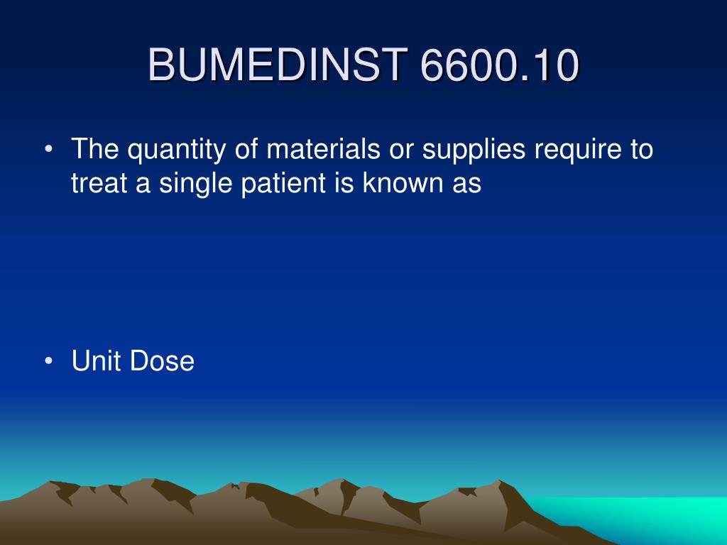 The quantity of materials or supplies require to treat a single patient is known as
