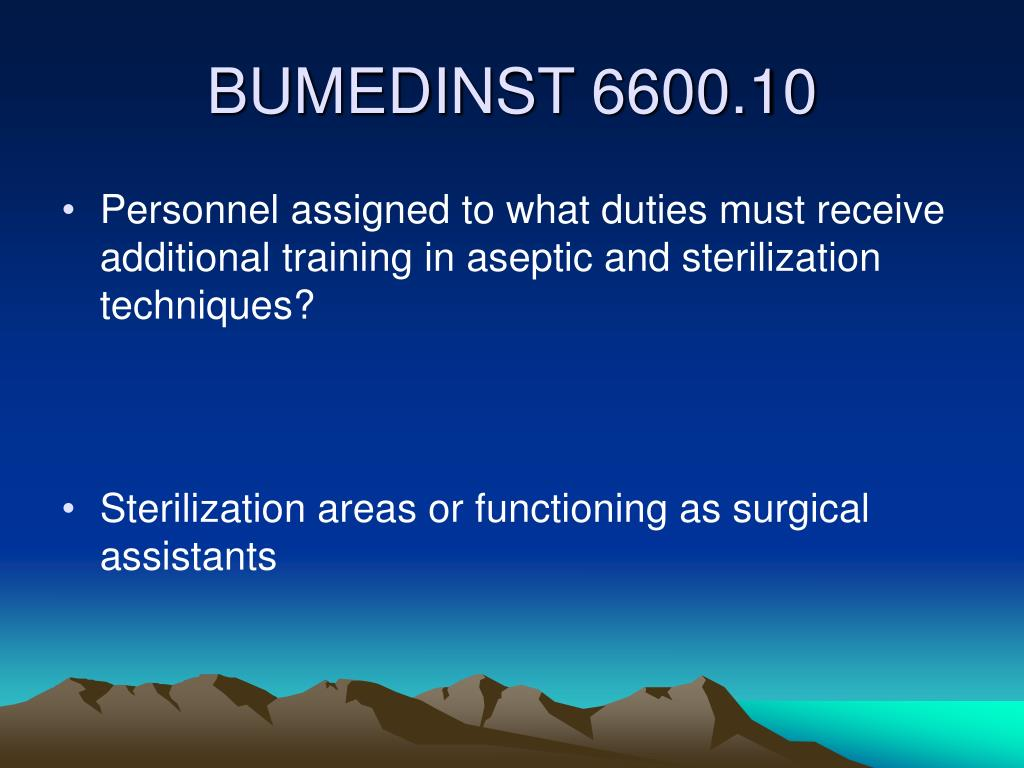 Personnel assigned to what duties must receive additional training in aseptic and sterilization techniques?