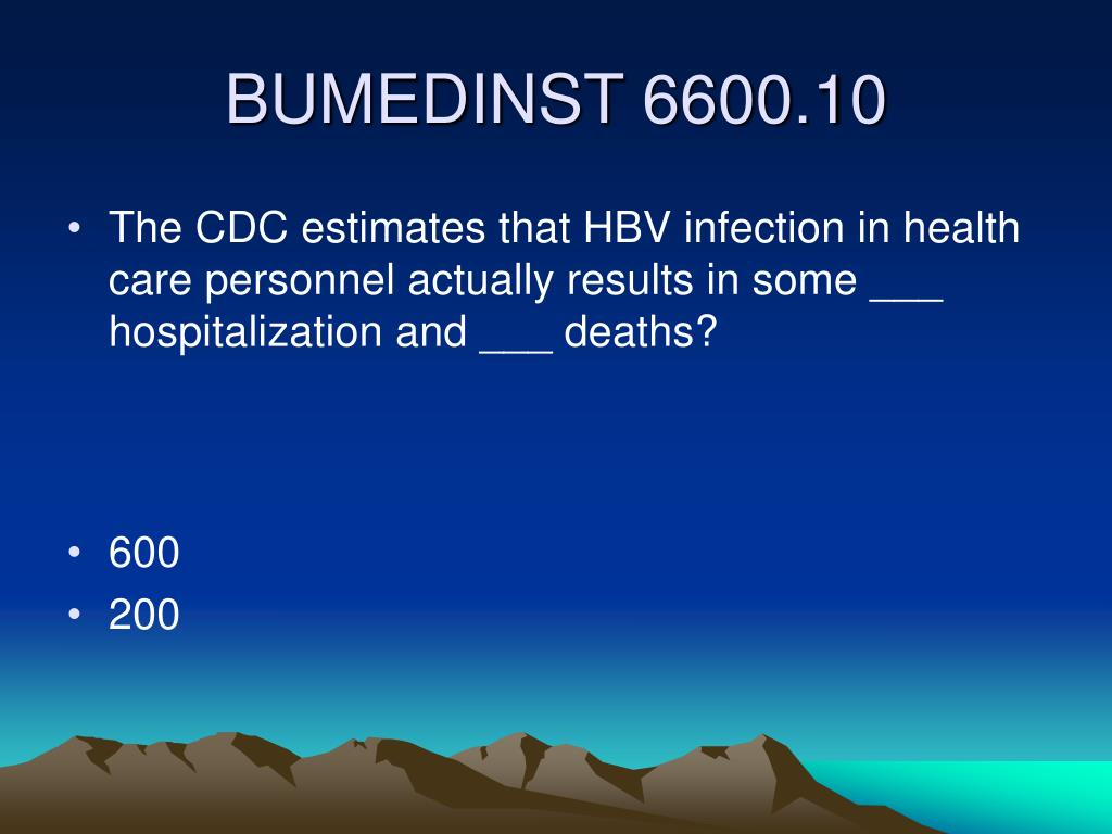 The CDC estimates that HBV infection in health care personnel actually results in some ___ hospitalization and ___ deaths?