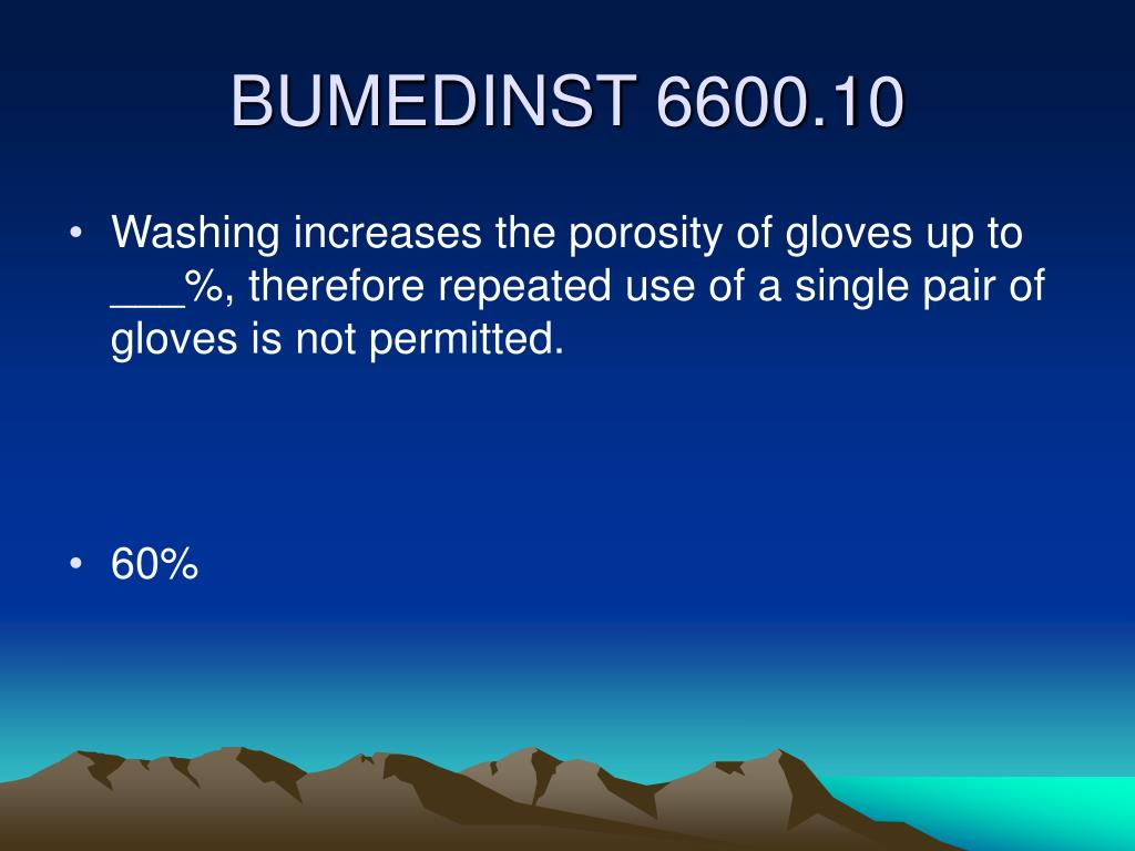 Washing increases the porosity of gloves up to ___%, therefore repeated use of a single pair of gloves is not permitted.