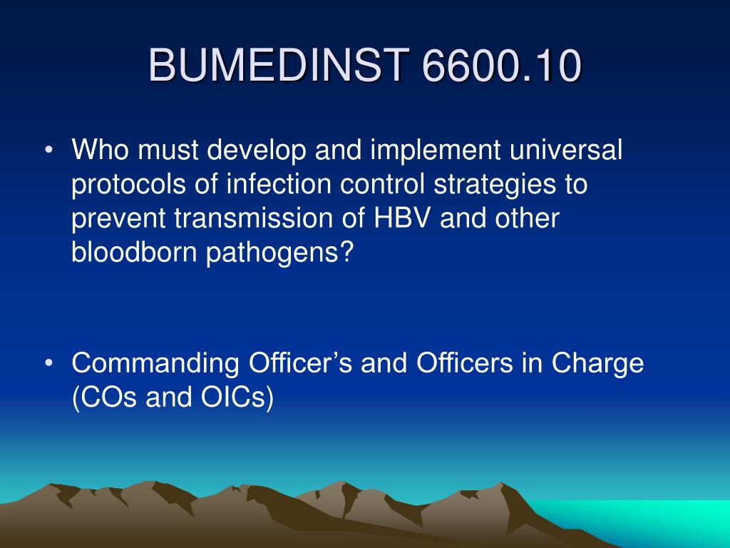 Who must develop and implement universal protocols of infection control strategies to prevent transmission of HBV and other bloodborn pathogens?