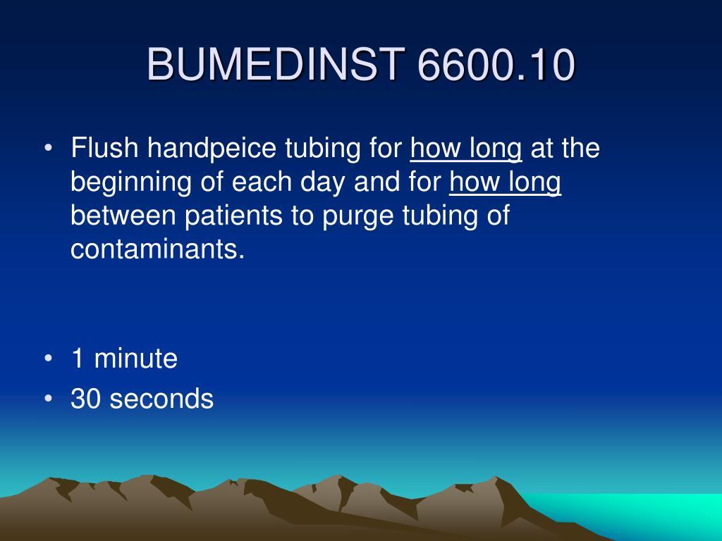 Flush handpeice tubing for