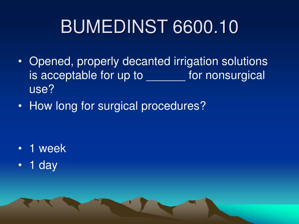 Opened, properly decanted irrigation solutions is acceptable for up to ______ for nonsurgical use?