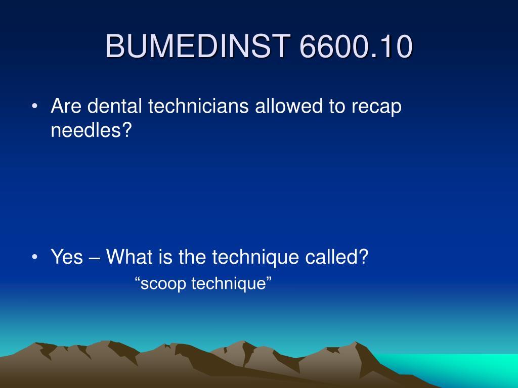 Are dental technicians allowed to recap needles?