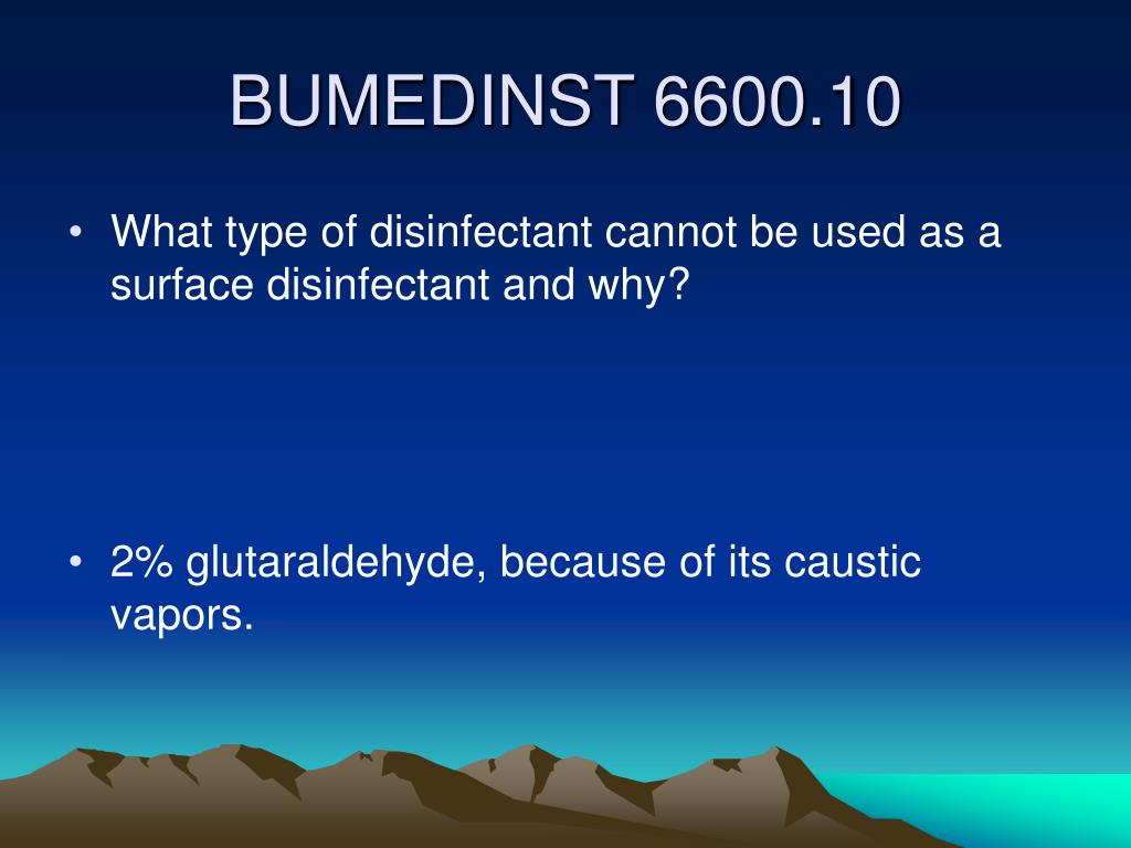What type of disinfectant cannot be used as a surface disinfectant and why?