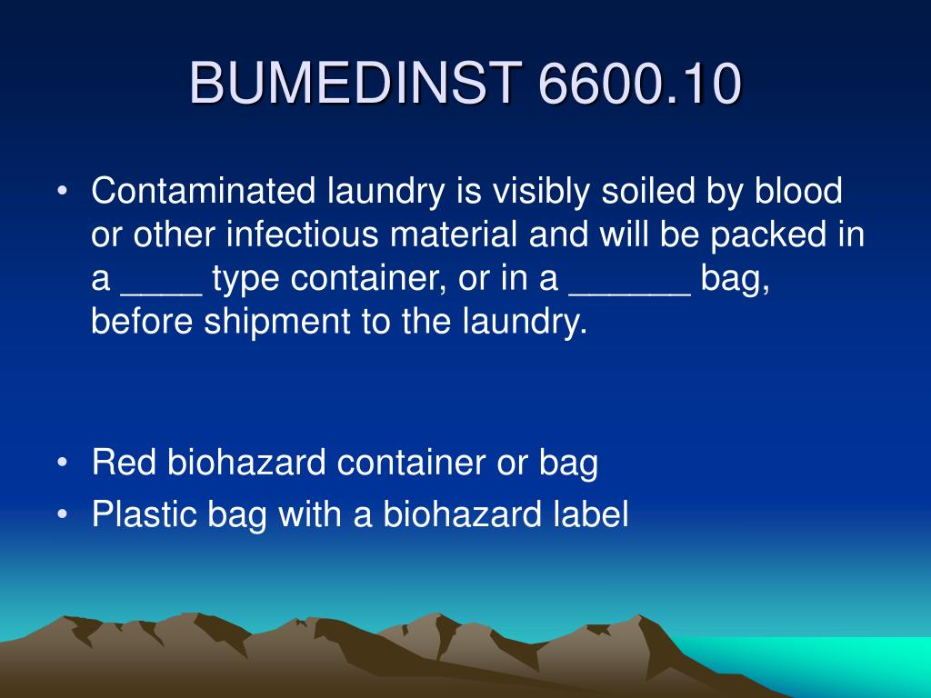 Contaminated laundry is visibly soiled by blood or other infectious material and will be packed in a ____ type container, or in a ______ bag, before shipment to the laundry.