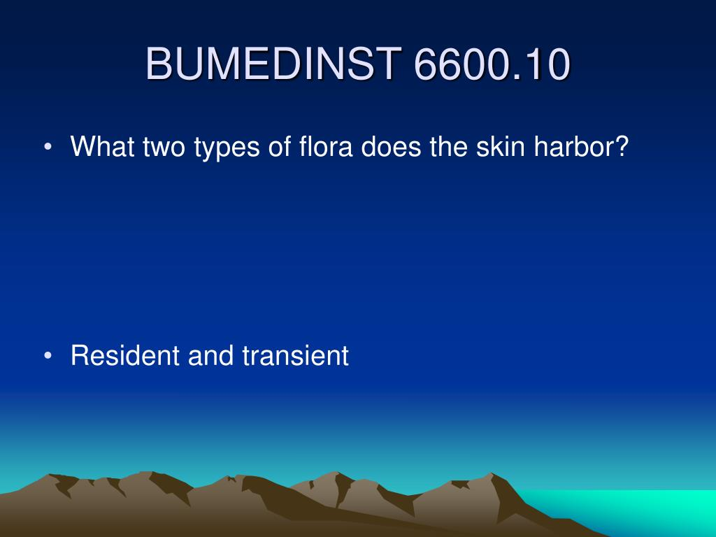 What two types of flora does the skin harbor?