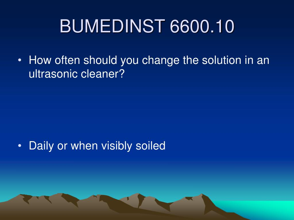 How often should you change the solution in an ultrasonic cleaner?