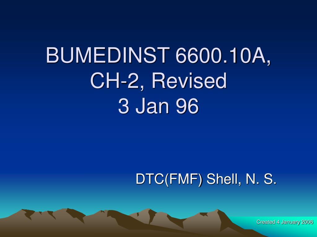 BUMEDINST 6600.10A,