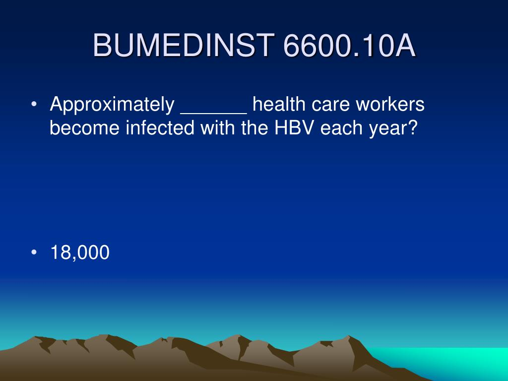 Approximately ______ health care workers become infected with the HBV each year?