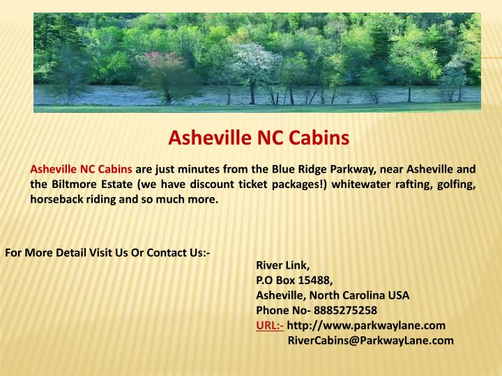 Asheville NC Cabins