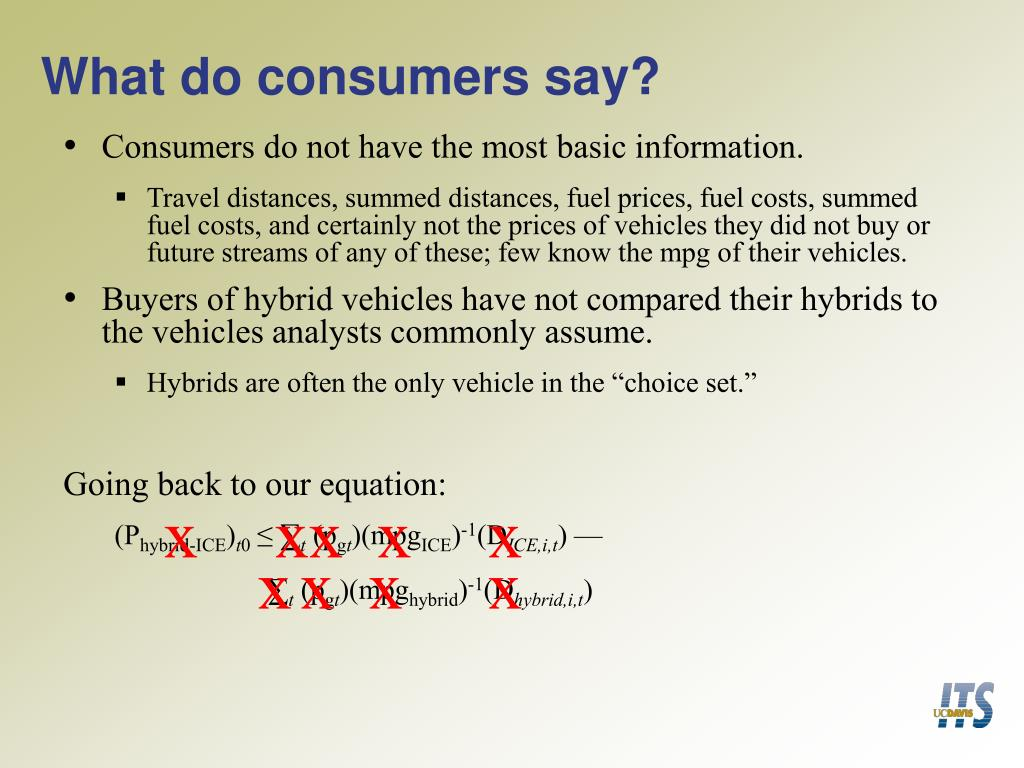 What do consumers say?