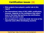 certification issues 3