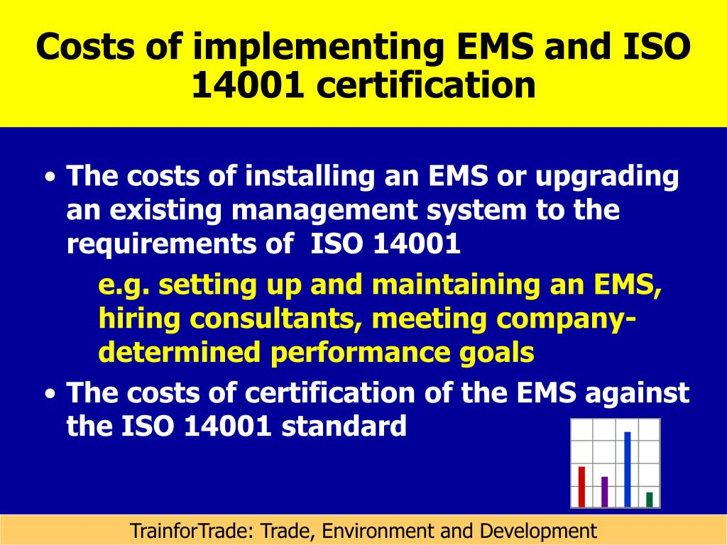 Costs of implementing EMS and ISO 14001 certification