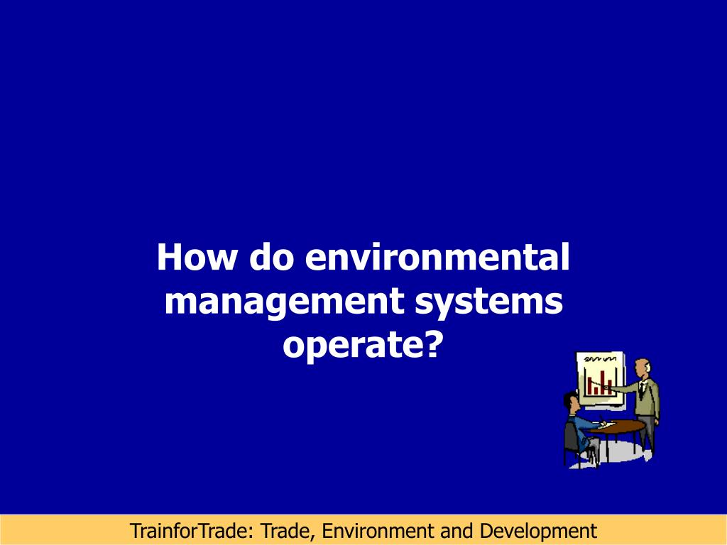 How do environmental management systems operate?
