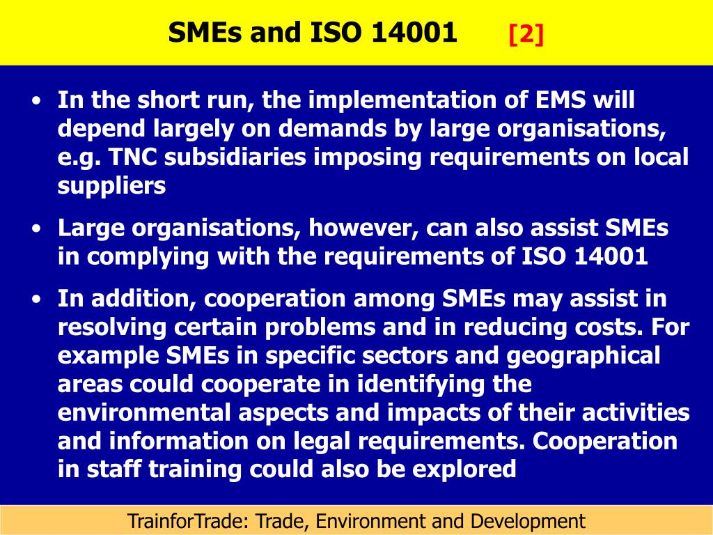 SMEs and ISO 14001