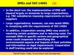 smes and iso 14001 2