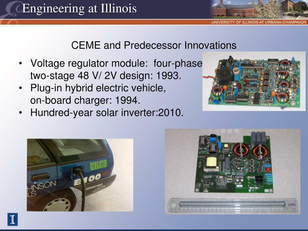 CEME and Predecessor Innovations