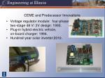 ceme and predecessor innovations