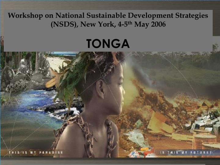 Workshop on National Sustainable Development Strategies (NSDS), New York, 4-5
