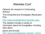 websites cont