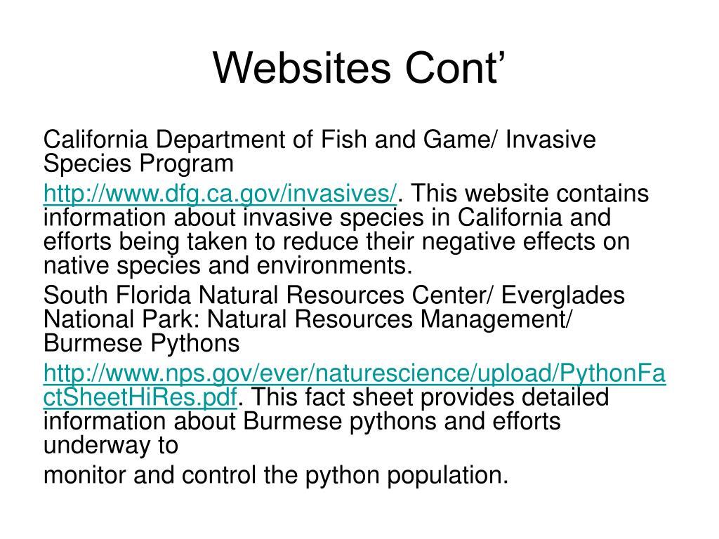 Websites Cont'