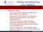 writing and presenting your research10
