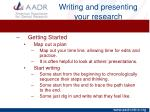 writing and presenting your research12