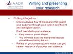 writing and presenting your research15
