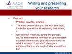 writing and presenting your research16