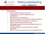 writing and presenting your research17