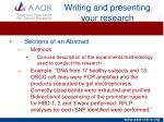writing and presenting your research4