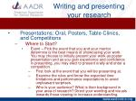 writing and presenting your research9