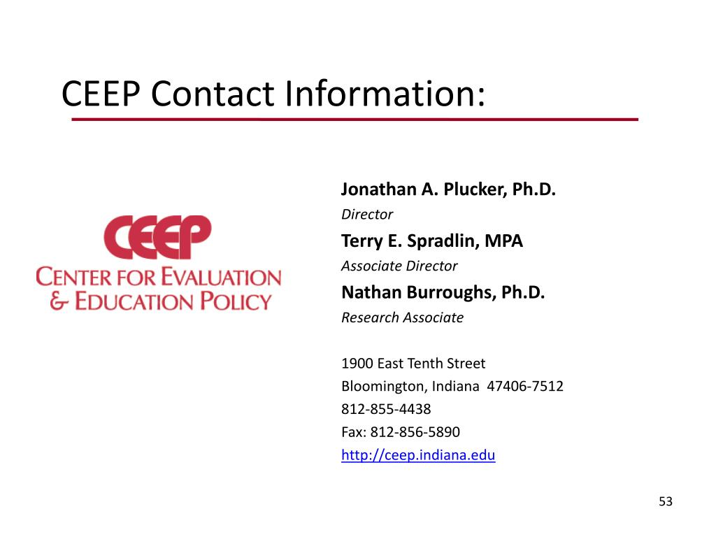 CEEP Contact Information: