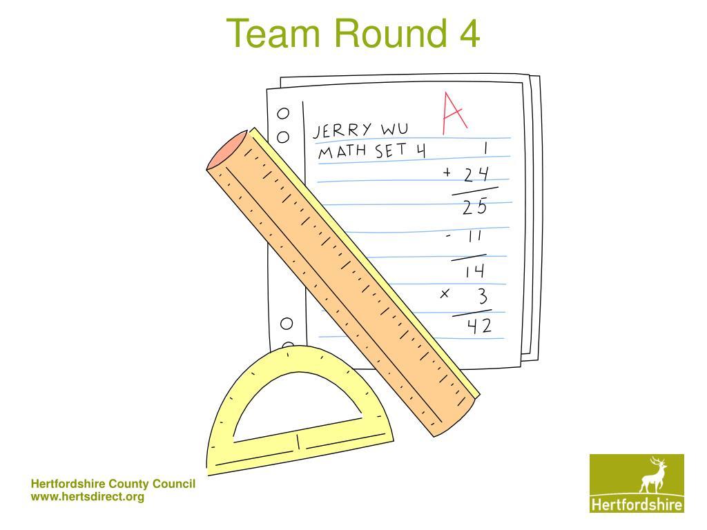 Team Round 4