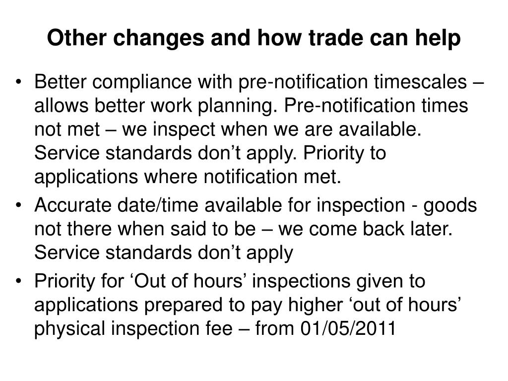Other changes and how trade can help