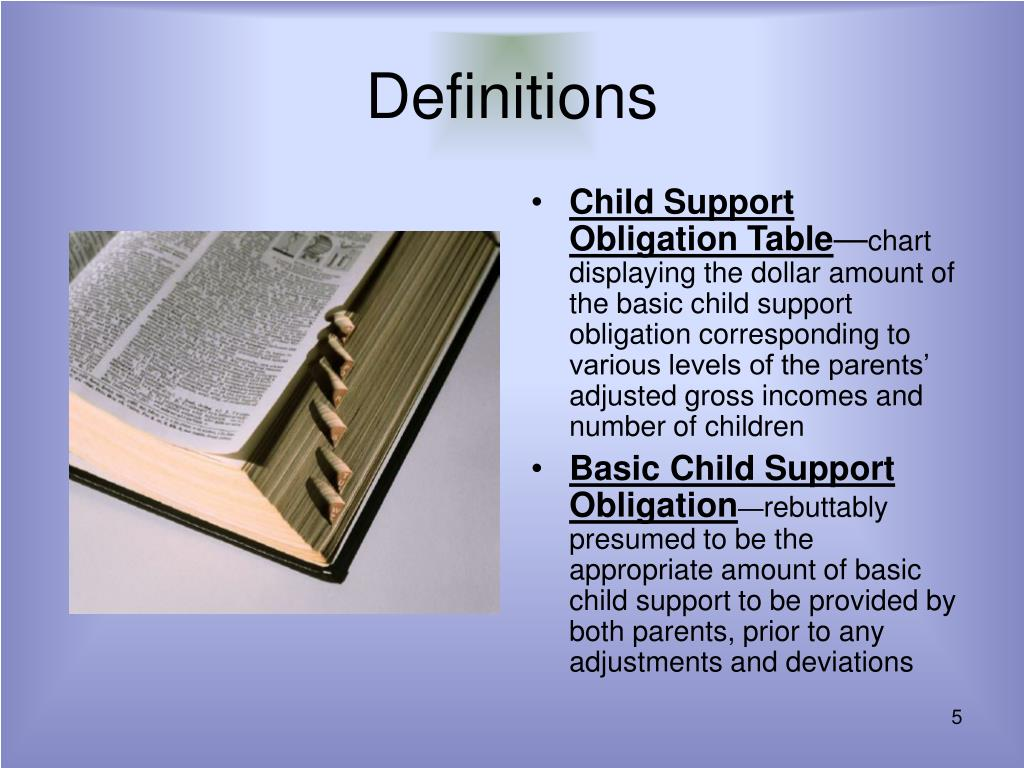Child Support Obligation Table